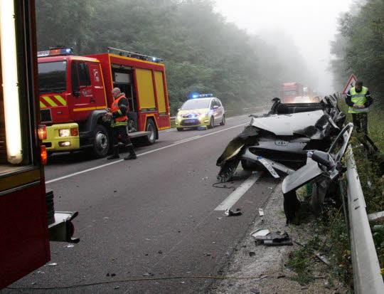 <img165|left> RN57 – Haute-Saône – Voiture contre camion : un blessé grave sur la RN57