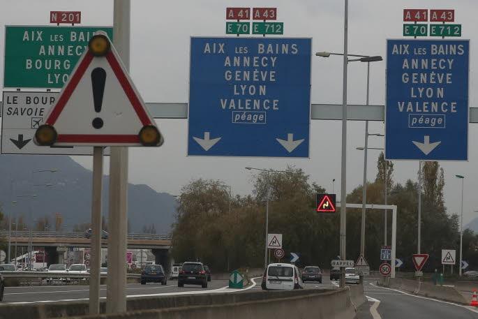 CHAMBERY (73) : La bretelle d'accès à l'A43, un lieu repéré comme accidentogène par Area