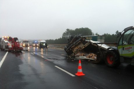 Landes : un chauffeur routier tué dans un accident mortel sur l'A 63