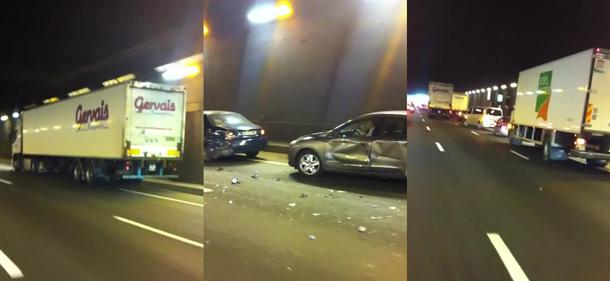 VIDEO des accrochages en direct  : Un camion sème le chaos sous le tunnel de l'A86