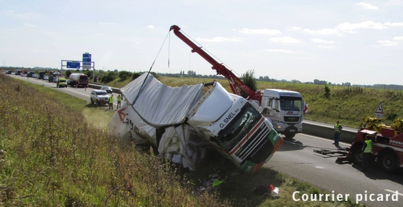 SOMME / Trois accidents impliquant des camions sur l'A16, l'A28 et l'A29