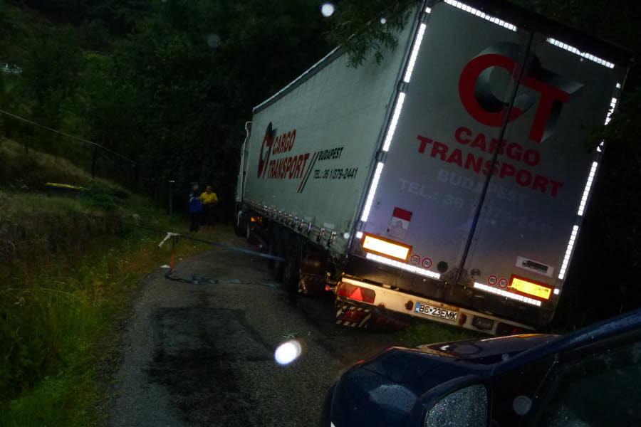 GENESTELLE (07) :  Un camion bloqué à cause du GPS
