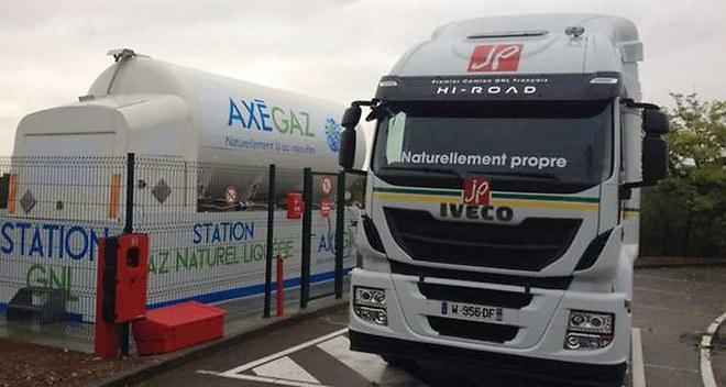 Les camions au gaz naturel liquéfié arrivent en France