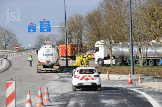 Chalon (71) : incident autour d'un camion de soude caustique