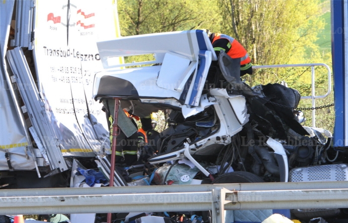 Accident mortel sur l'A4 près de Zimming: quatre poids lourds impliqués et autoroute fermée