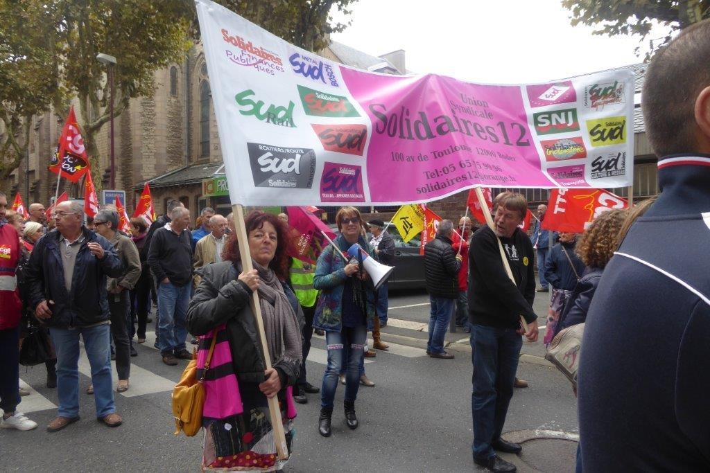 SUD-Solidaires Route présent sur le territoire
