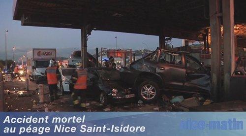 Près de Nice : les freins du camion lâchent au péage, 1 mort, 7 blessés