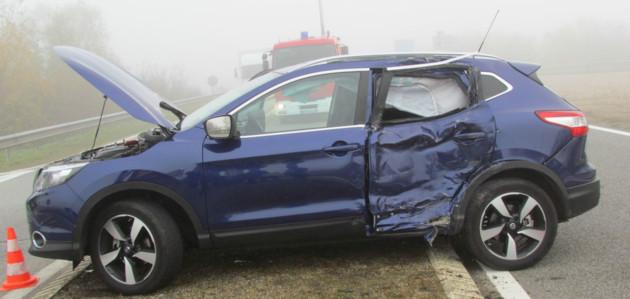 BROUILLARD : Saint-Aubin-sur-Gaillon /  Camion contre voiture dans le brouillard