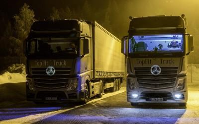 Mercedes éclaire les cabines la nuit