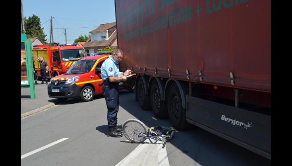 Isbergues : Un enfant écrasé par un camion ce midi