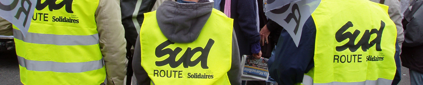 "Syndicat  national routier ""SUD-Solidaires ROUTE"""