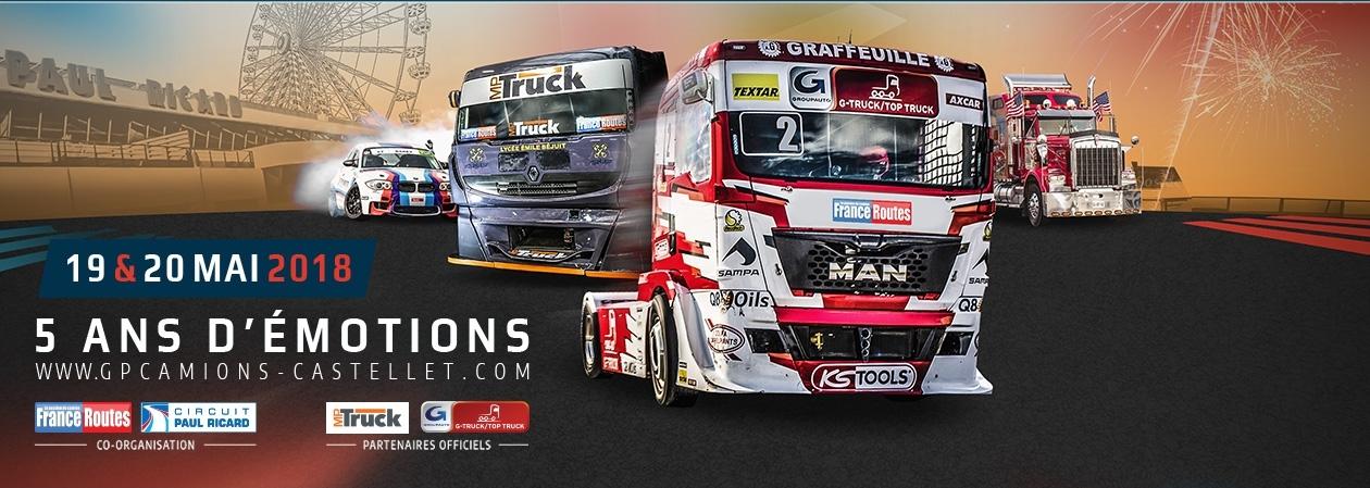 Calendrier 2018 Championnat de Camions / 19 & 20 mai : Grand Prix Camions du Castellet