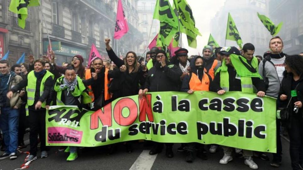 SUD -Solidaires Route soutien SUD RAIL contre le démantèlement du service public