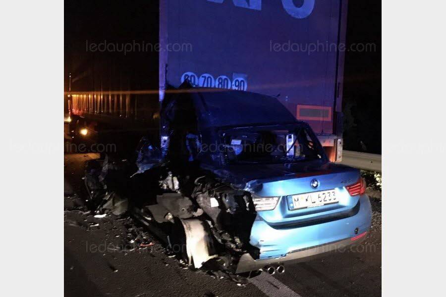 ACCIDENT Orange : sur l'A7, il s'en sort par miracle