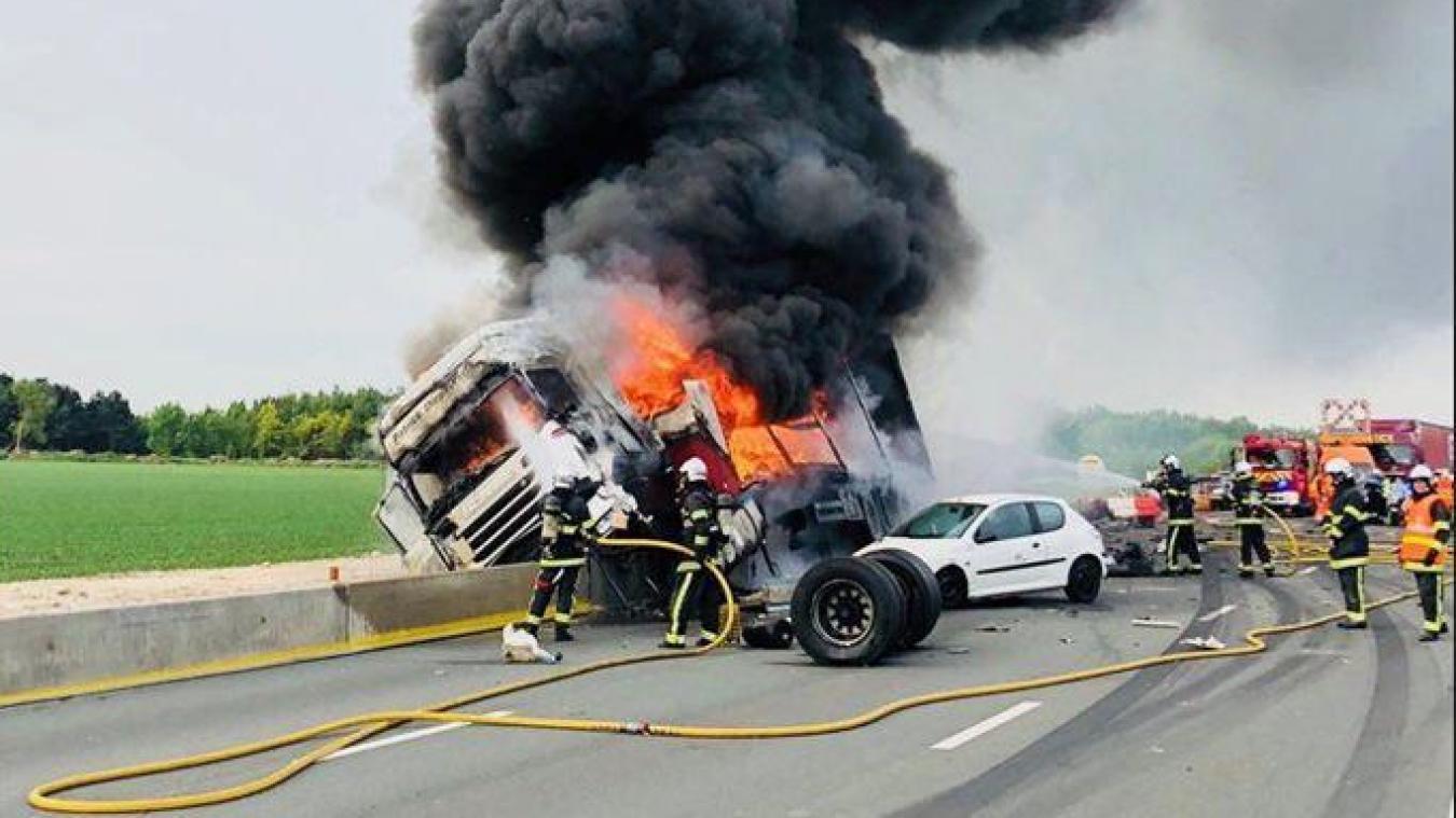 A1 Le conducteur du camion en feu, samedi sur l'A1, était alcoolisé