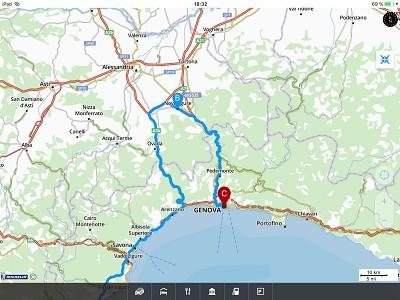 Suite au drame de Gênes : 200 km de détour !