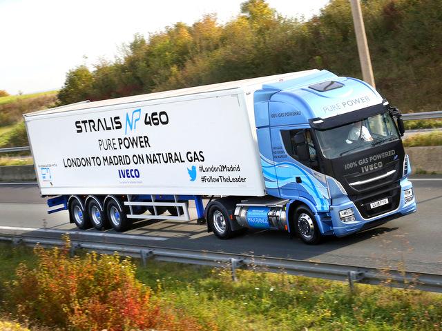Un Iveco gaz couvre la distance Londres-Madrid sans ravitaillement