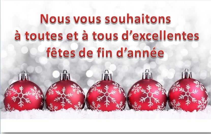 » Bonnes fêtes de fin d'année»