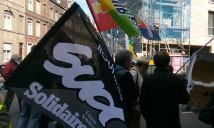 SUD-SOLIDAIRES Route présent à Lille.