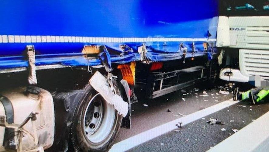 Hérault (34) : queue de poisson sur l'A9, jet de canette et accident entre routiers